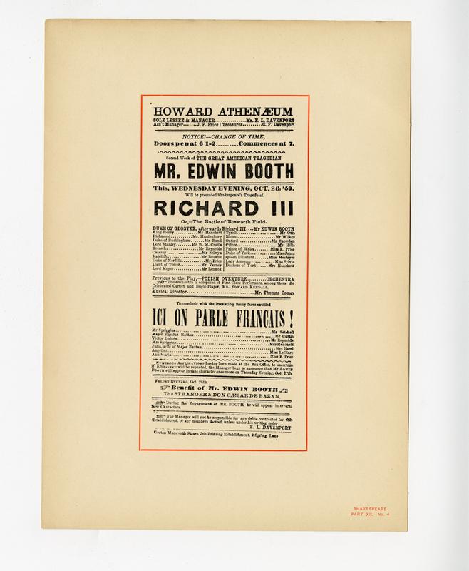 Shakespeare rare print collection