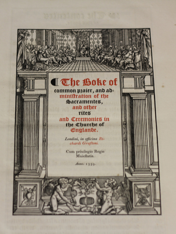 The Book of Common Prayer commonly called the first prayer book of Queen Elizabeth (1559, 1844 facsimile)<br />