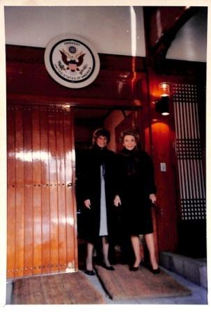 Photograph of Celeno (Ceny) K. Walker and Nancy Reagan