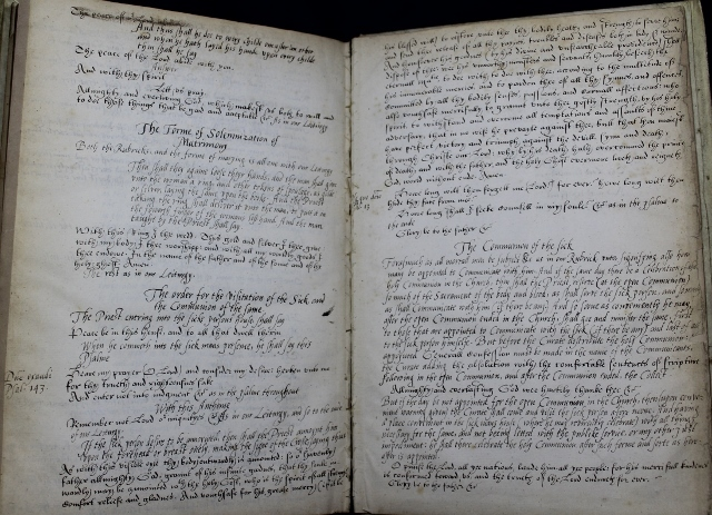 The booke of the common prayer and administracion of the Sacramentes, and other rites and ceremonies of the Churche: after the use of the Churche of England.