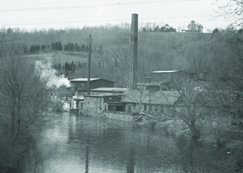Photograph of Page Felt Mill c.1890