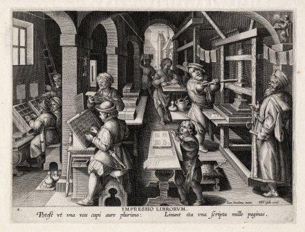 Impressio Librorum, plate 4 of Nova Reperta.
