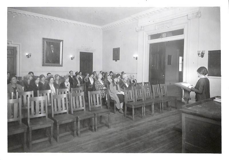 Image of Women Students in Mead Hall, 1920s