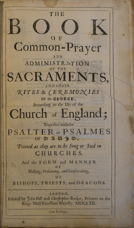 The Book of Common Prayer (1662)