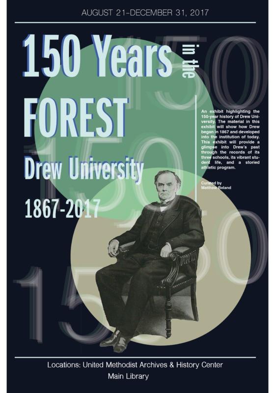 Drew University 150th Anniversary Exhibit Poster