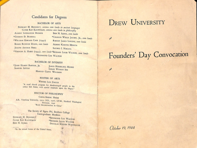 Drew University's Founder's Day Convocation