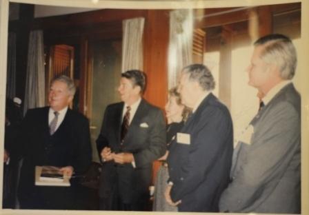 Photograph of President Reagan and Ambassador Walker