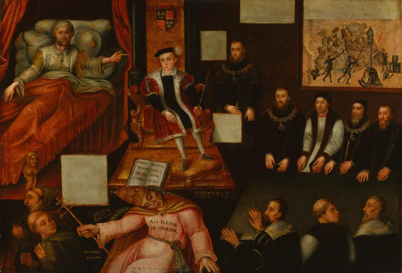 King Edward VI and the Pope, ca. 1575<br />