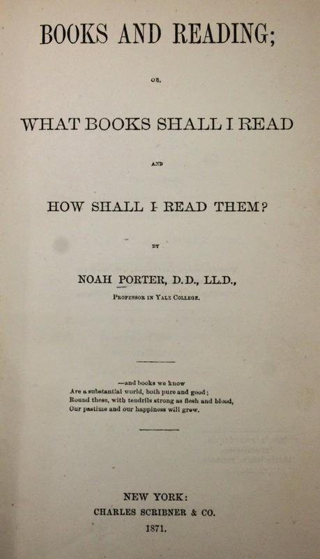 Books and Reading; or, What Books Shall I Read and How Shall I Read Them?