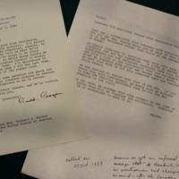 Correspondence with President Reagan