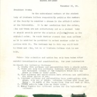 1928 Petition For Green and Gold to be Brothers College colors
