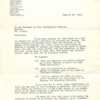 Letter from the Brothers offering to fund the school