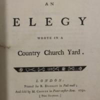 An Elegy Wrote in a Country Church Yard