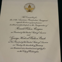Invitation to Ambassador Walker