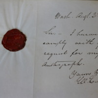 William L. Marcy's Note with Intact Seal