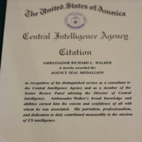 Citation for Distinguished Service