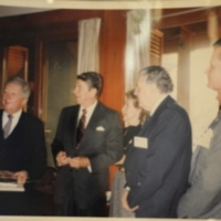 Photograph of President Reagan and Ambassador Walker