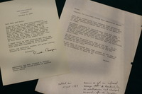 Correspondence with President Reagan