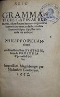 Grammatices latinae elementa. [Grammatical Elements of Latin]