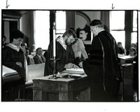 Photograph of Students signing Matriculation Book, c.1976
