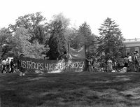 Drew University Korean Students protest letter against the conferring of an honorary doctorate degree to Ambassador Richard L. Walker, May 12, 1986.