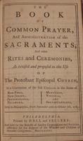 Book of Common Prayer (1786)