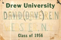 David Rein's Class of 1956 name tag