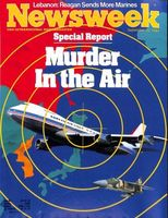Time and Newsweek magazine covers from September 12, 1983 concerning the KAL 007 bombing.