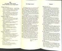 1985 Ezra Squier Tipple Lecture Brochures and Introductory Letter
