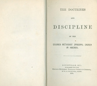 Doctrines and Discipline of the Colored Methodist Episcopal Church in America