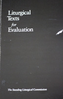 Liturgical Texts for Evaluation (1987)