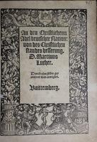 An den christlichen Adel deutscher Nation... [To the Christian nobility of the German Nation...].