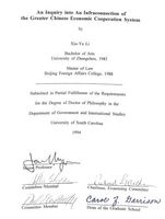 "Doctoral dissertation of Xin-Yu Li, An Inquiry into an Infraconnection of the Greater Chinese Economic Cooperation System, 1994, listing Richard L. Walker as, ""Chairman, Executive Committee."""