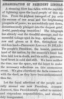 """Assassination of President Lincoln"""